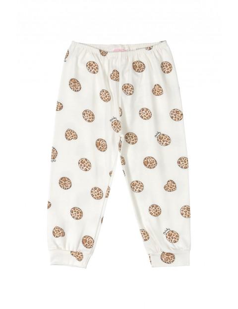 Spodnie niemowlęce we wzorki - białe