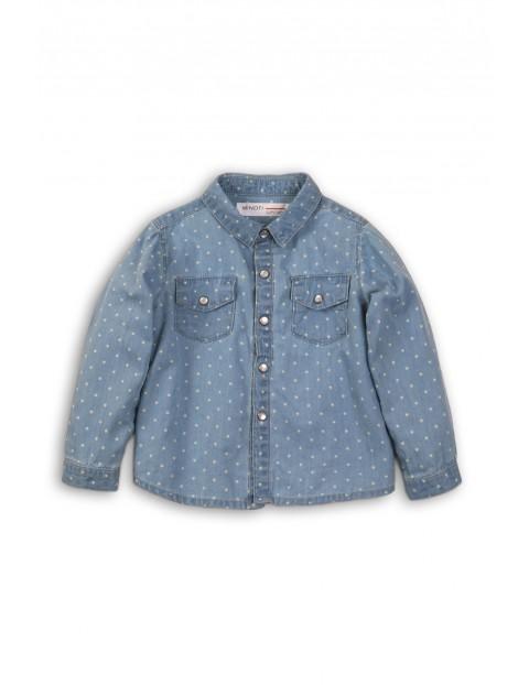 Koszula dziewczęca dla dziewczynki- niebieska w gwiazdki