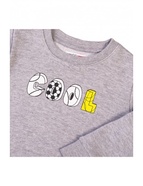 Bluza dresowa chłopięca szara Cool