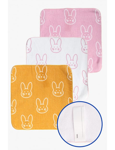 Ręczniki do rąk Króliczki 30x30cm 3-pack