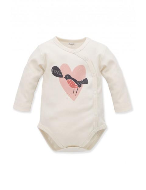 Body niemowlęce kopertowe Little Bird - ecru
