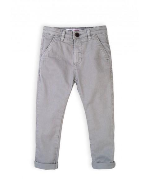 Spodnie chłopięce chinosy - szare