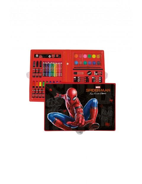 Kredki, flamastry, farby- zestaw artystyczny Spiderman