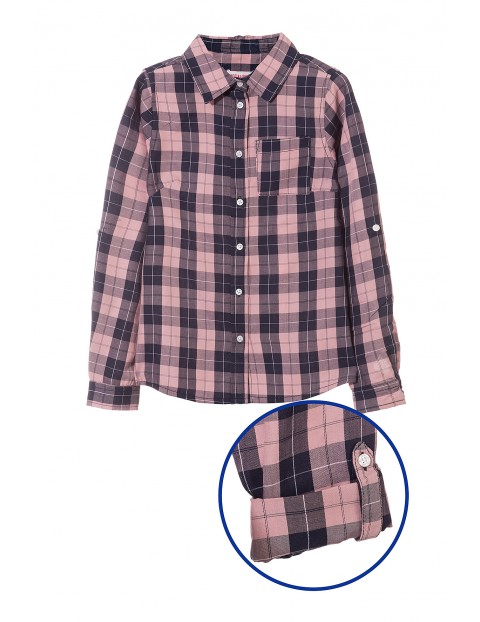 Koszula dziewczęca w kratę 4J3510
