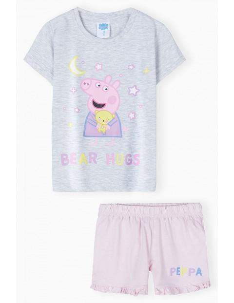 Pidżama dziewczęca Świnka Peppa - t-shirt + spodenkI