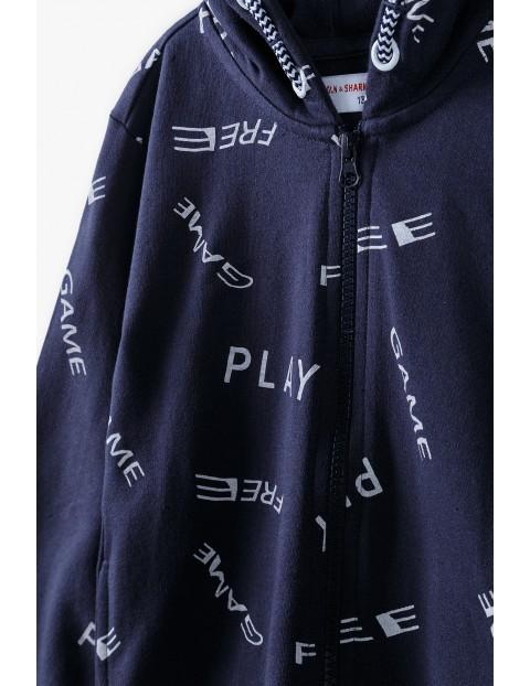 Bawełniana bluza dresowa chłopięca z kapturem