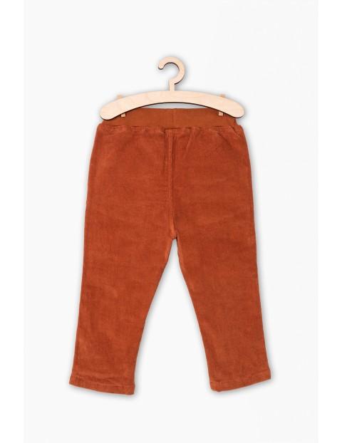 Sztruksowe spodnie chłopięce z bawełnianą podszewką