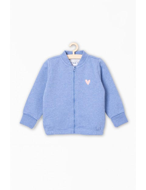 Bluza dresowa dla niemowlaka - niebieska