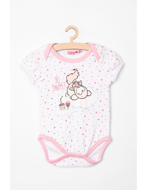 Body niemowlęce NICI białe w gwiazdki