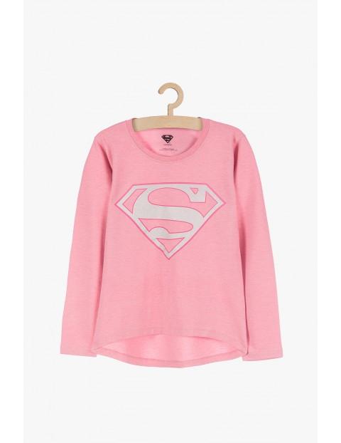 Różowa bluzka dla dziewczynki- długi rękaw