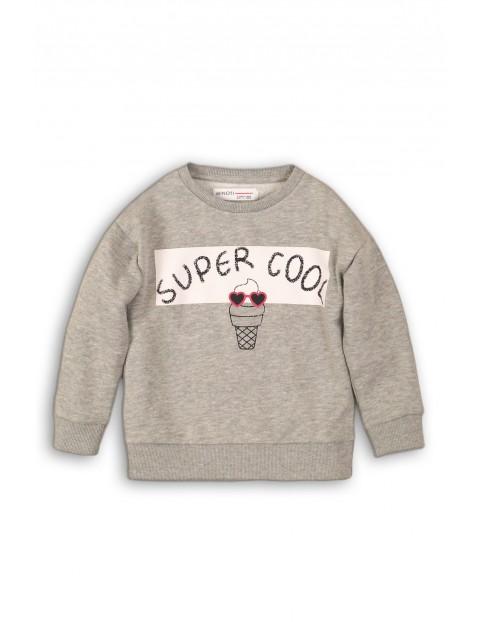 Bluza dresowa dziewczęca szara Super Cool
