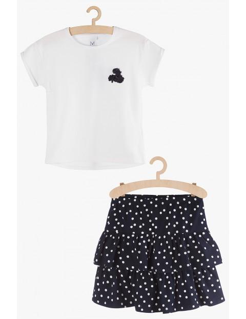 Komplet ubrań dla dziewczynki-  bluzka i spódniczka