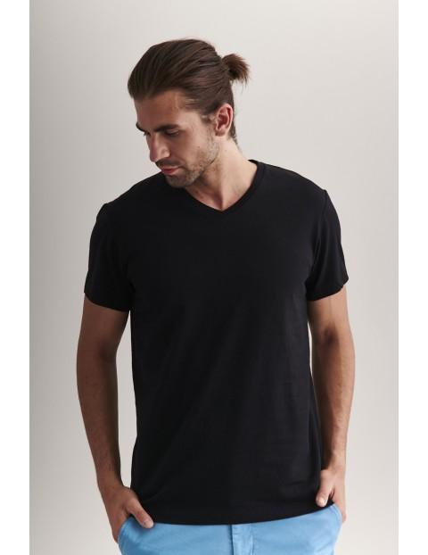 Bawełniany t-shirt męski - czarny