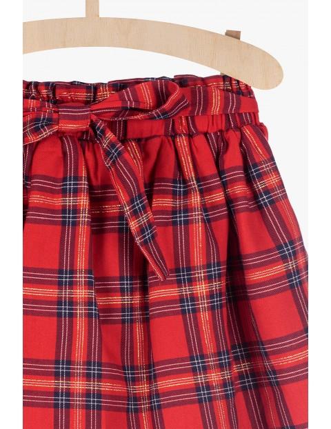 Czerwona świąteczna spódnica w kratkę