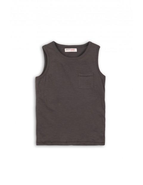 Czarna koszulka na ramiączka dla chłopca