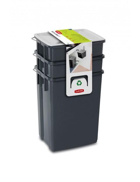 SET Pojemników na odpady BIO Curver ( 2x10l, 6l + pokrywki )