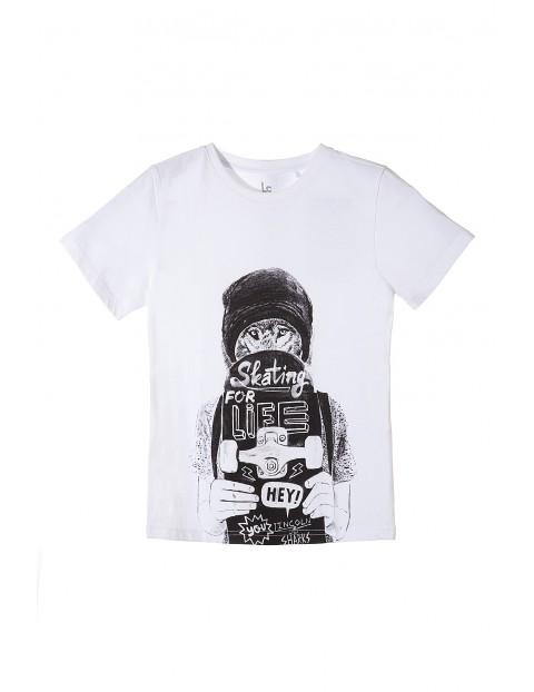 T-shirt chłopięcy z deskorolką 2I3511
