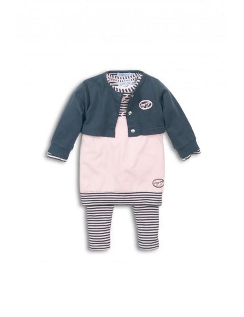 Komplet ubrań dla dziewczynki- sweter, tunika i leginsy