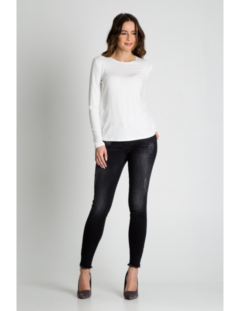 Bluzka damska biała- basic
