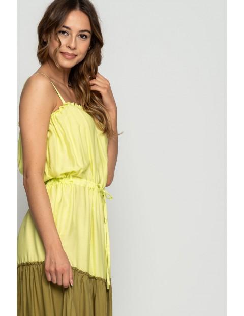 Długa sukienka damska- cienkie ramiączka