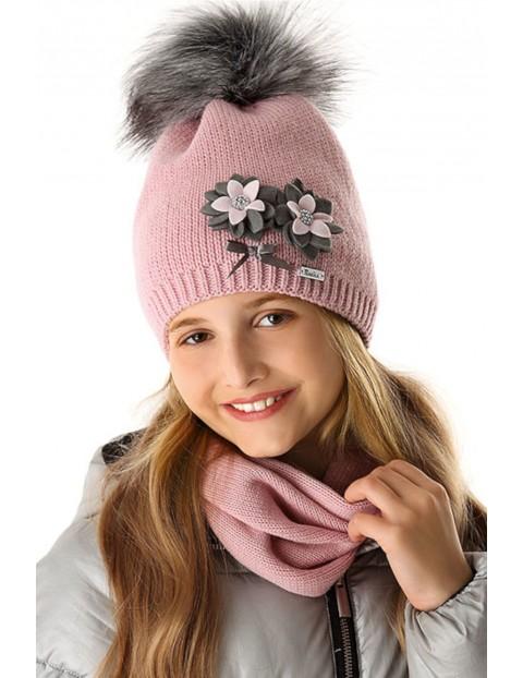 Komin różowy dla dziewczynki 4X35AX