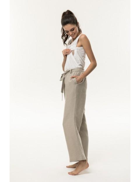 Spodnie ciążowe lniane