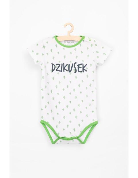 Body niemowlęce w kaktusy z napisem Dzikusek