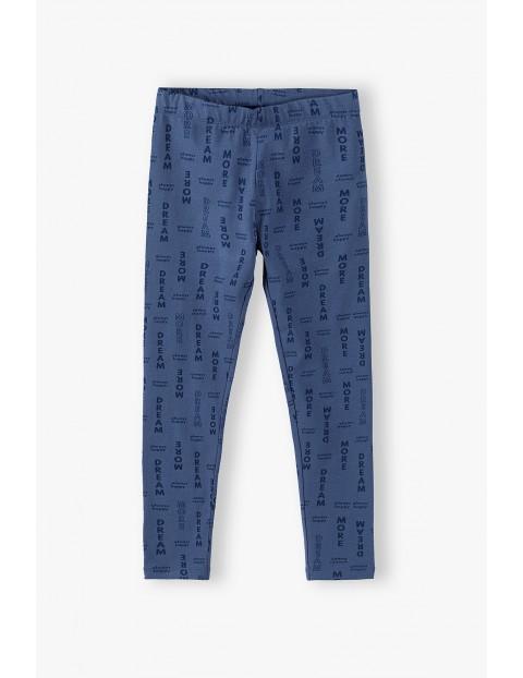 Niebieskie legginsy dziewczęce