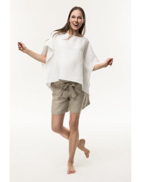 Lniana bluzka ciążowa-biała