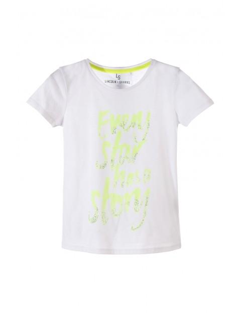T-shirt dziewczęcy 4I3411
