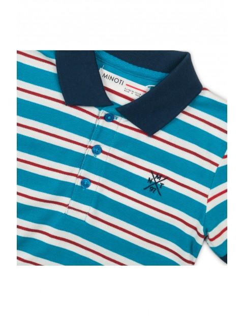 Koszulka niemowlęca w biało-niebieskie paski
