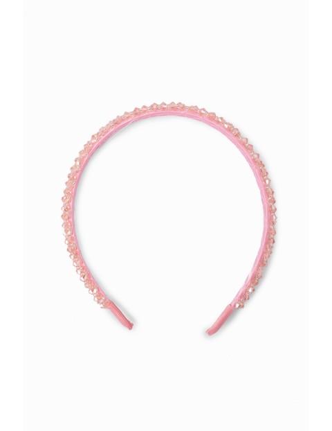 Opaska do włosów- różowa