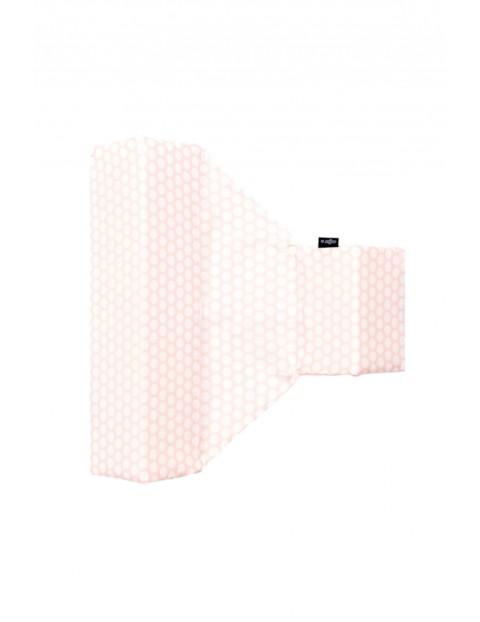 Ogranicznik trójkątny bawełna grochy różowo białe