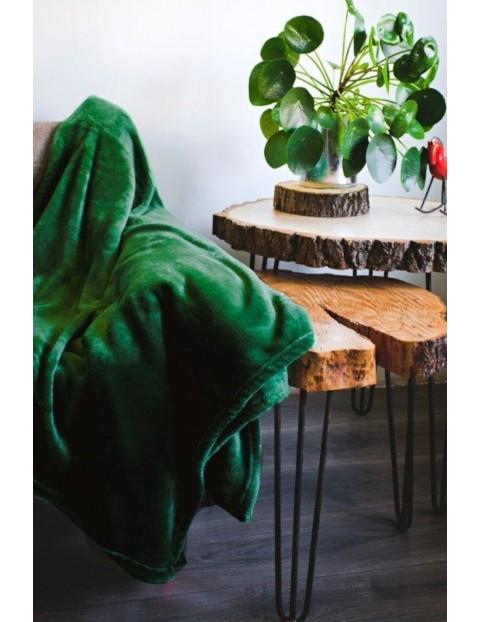 Koc Siglo- butelkowa zieloń 150x200cm