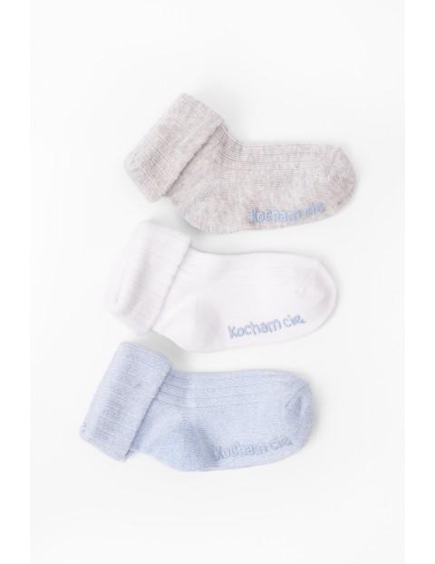 Skarpetki dla niemowlaka z ABS- Kocham Cię