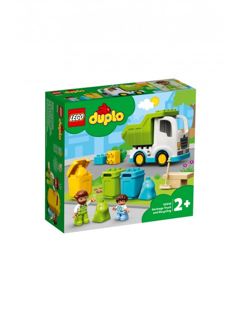 LEGO DUPLO Town - Śmieciarka i recykling 10945 - 19 elementów wiek 2+