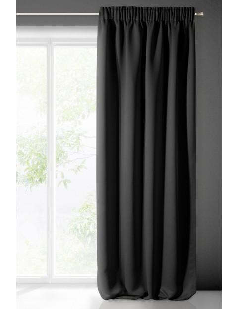 Zasłona jednokolorowa zaciemniająca -czarna - 135x270cm