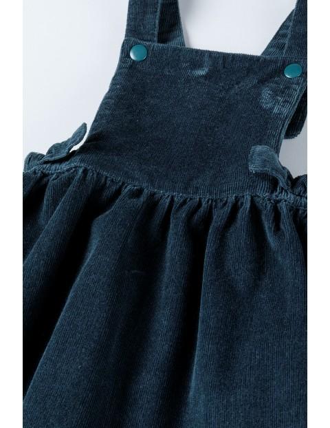 Sukienka dziewczęca na szelkach