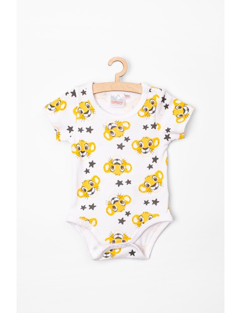 Body niemowlęce z krótkim rękawem białe Simba