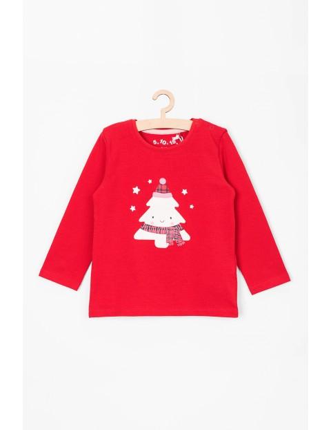 Czerwona świąteczna bluzka dla niemowlaka