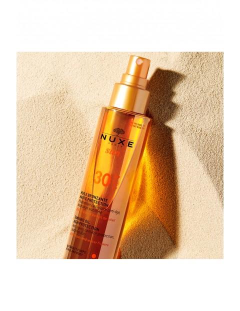 NUXE SUN Brązujący olejek do opalania (w sprayu) - wysoka ochrona SPF30 150 ml