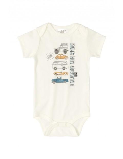 Body niemowlęce w samochody - białe