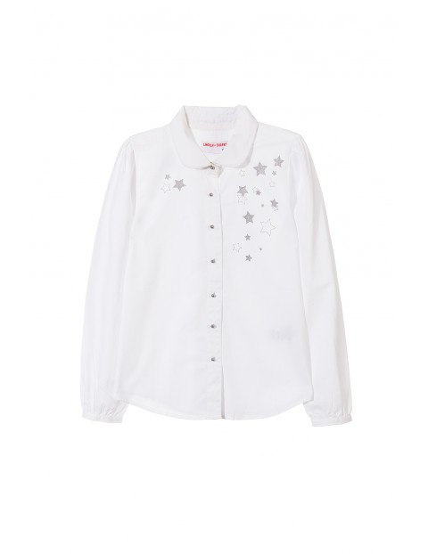 Koszula dziewczęca biała 4J3508