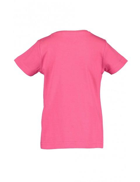 Koszulka dziewczęca różowa z koalą