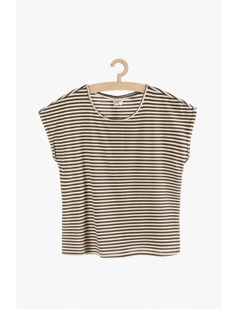 T-shirt dzianinowy w paski