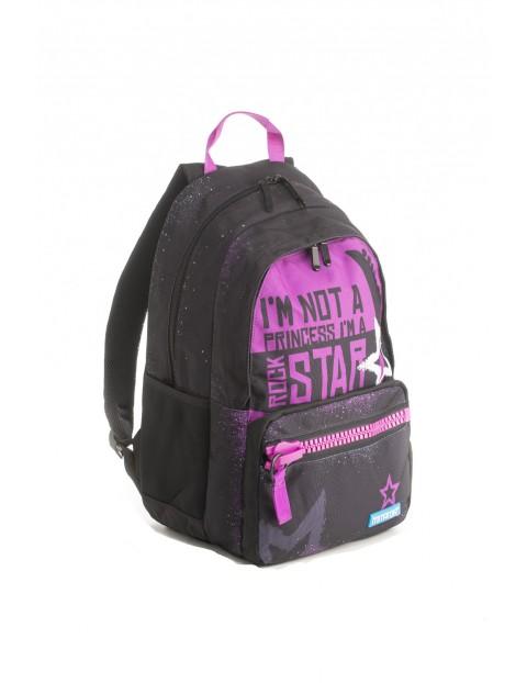 Plecak dziewczęcy szkolny  - czarny