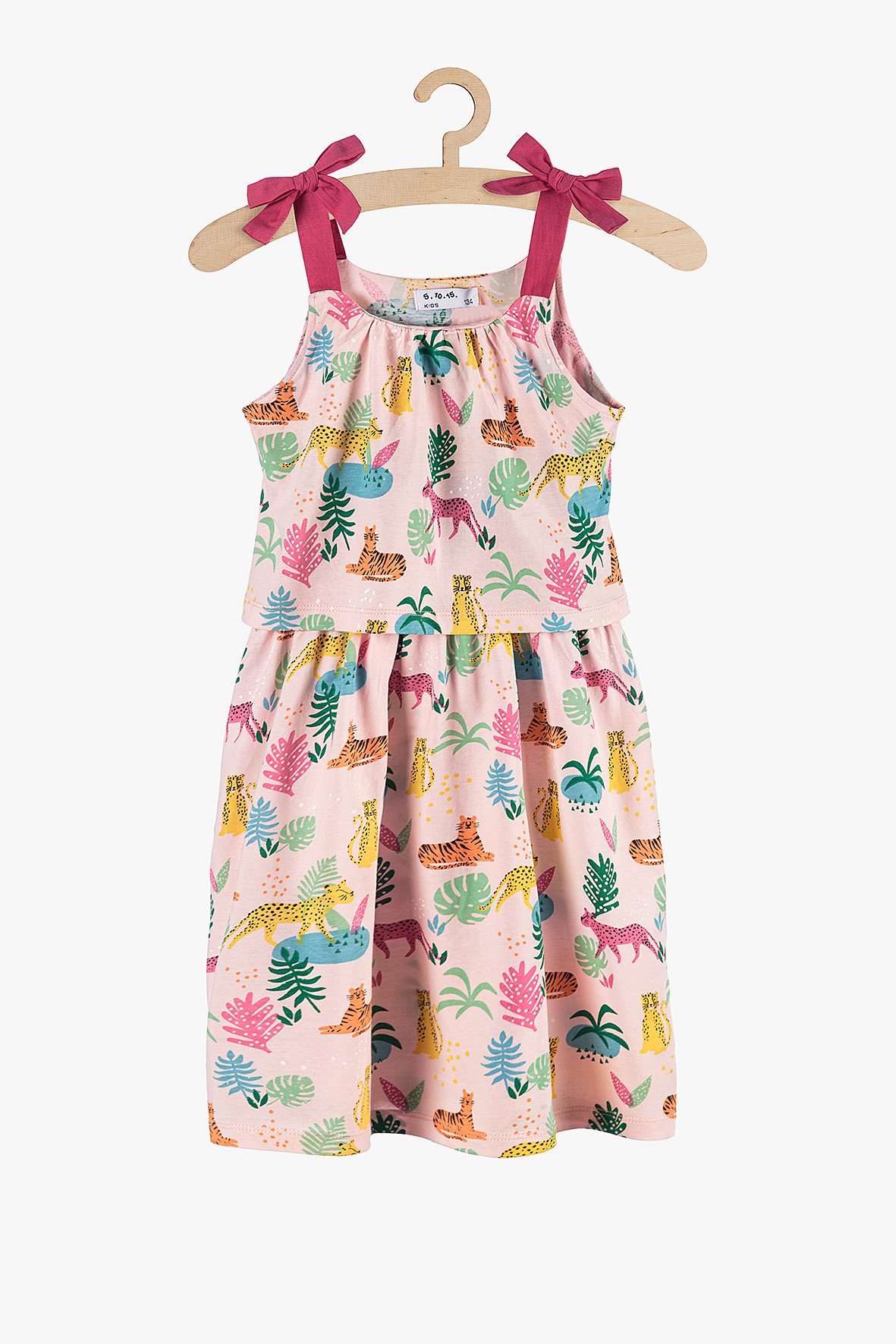 Sukienka dziewczęca różowa 3K3831