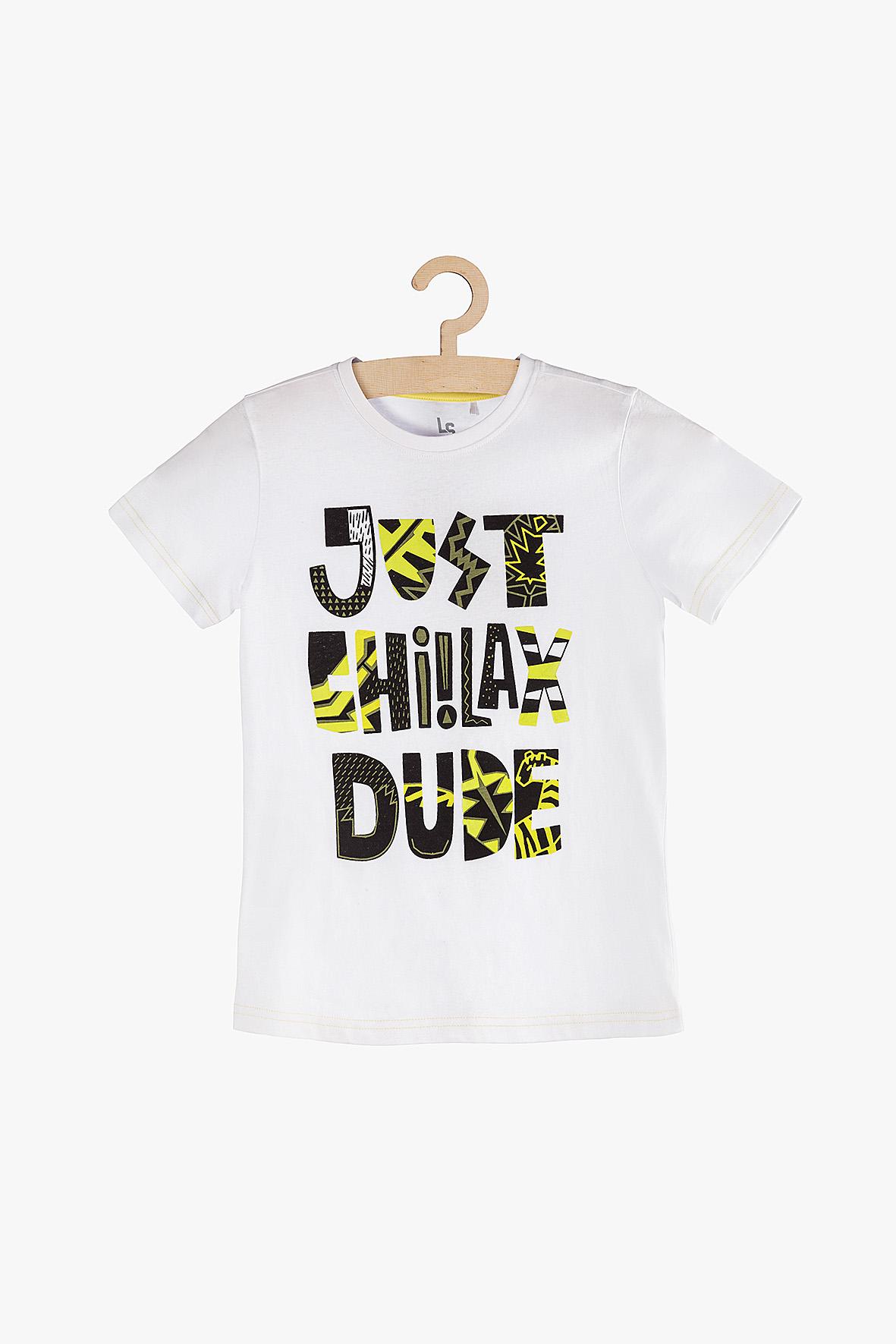 T-Shirt chłopięcy z napisami 2I3847