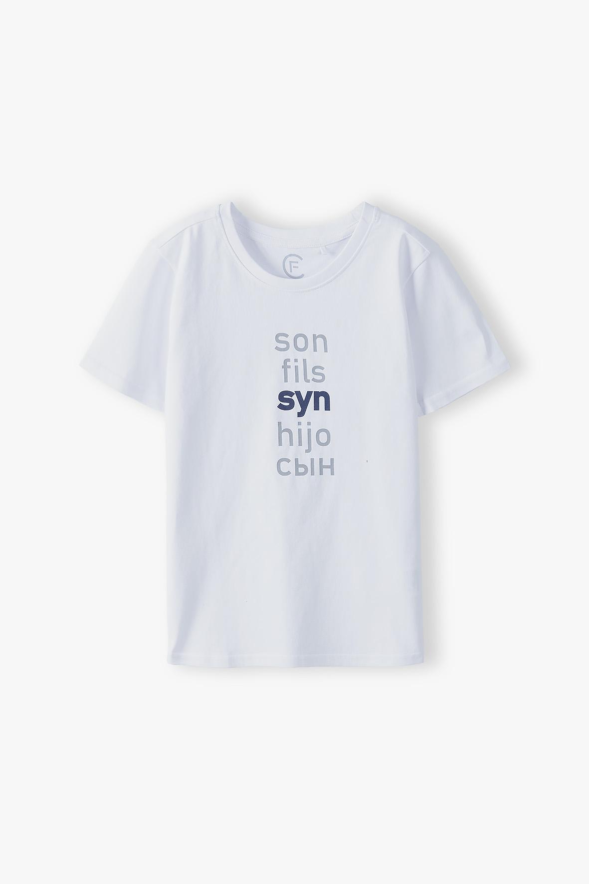 T-shirt chłopięcy biały 2I4063