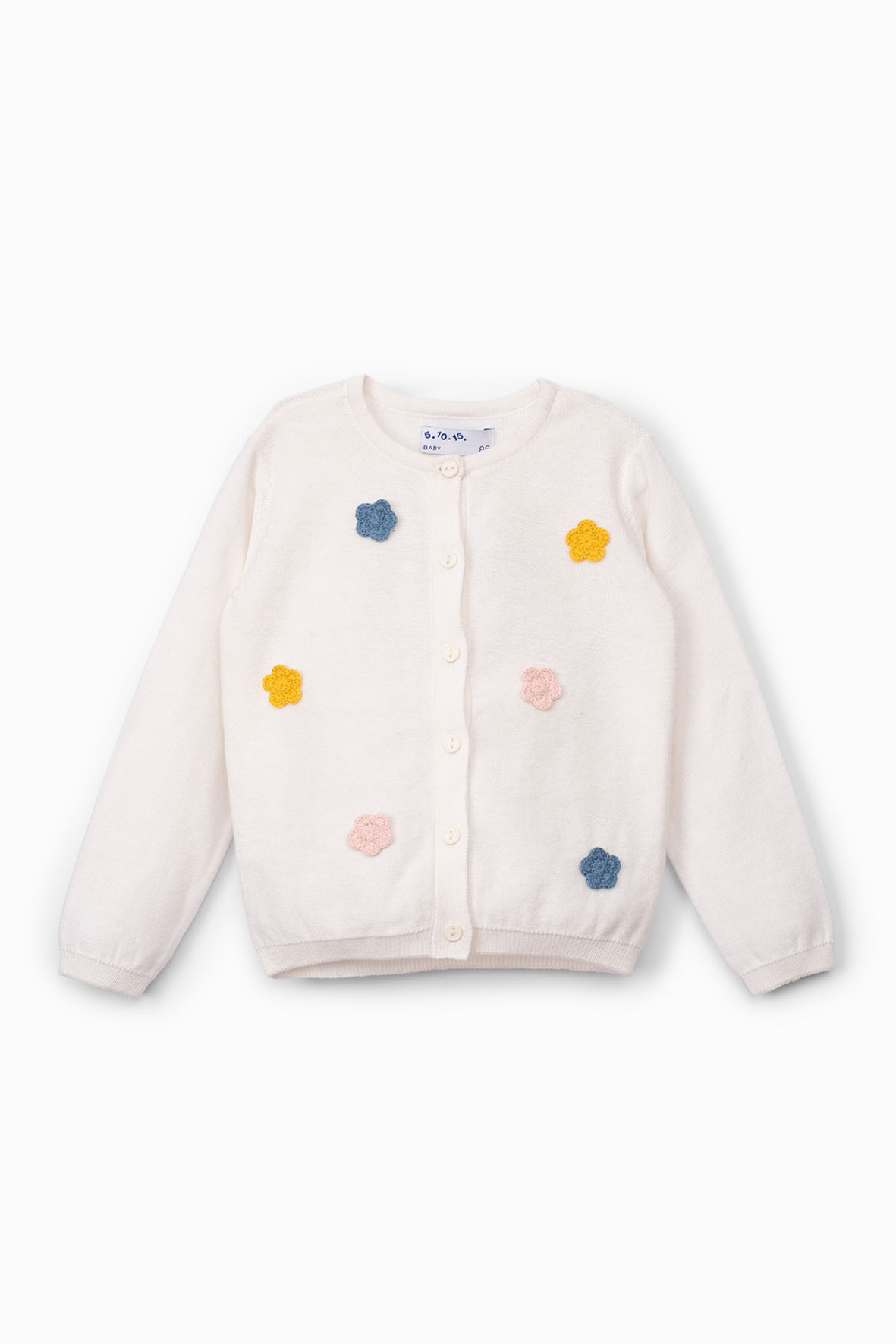 Sweter niemowlęcy w kwiatki 6C4001